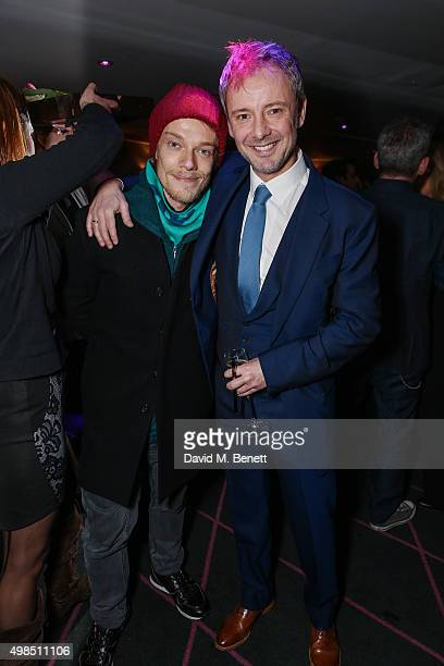 Alfie Allen and John Simm attend the press night after party for 'The Homecoming' at The Electric Carousel on November 23 2015 in London England