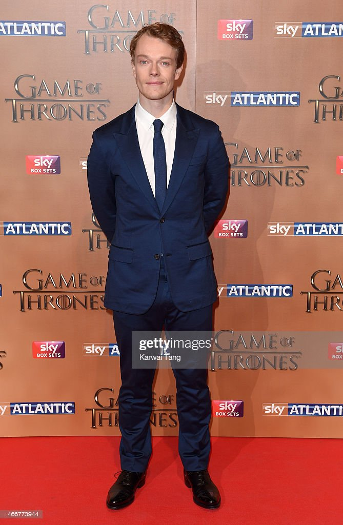 Alfie Allen arrives for the world premiere of Game of Thrones Season 5 at Tower of London on March 18, 2015 in London, England.