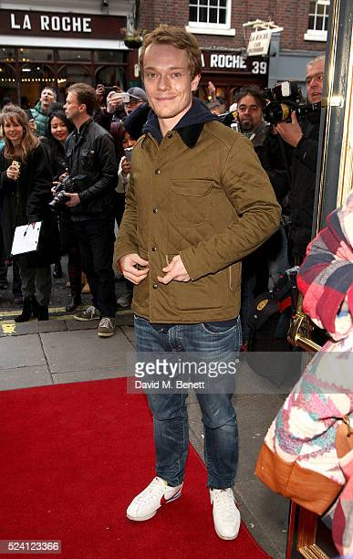 Alfie Allen attends the Gala Night performance of 'Doctor Faustus' at The Duke Of York's Theatre on April 25 2016 in London England