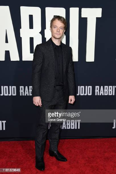 """Alfie Allen attends the premiere of Fox Searchlights' """"Jojo Rabbit"""" at Post 43 on October 15, 2019 in Los Angeles, California."""