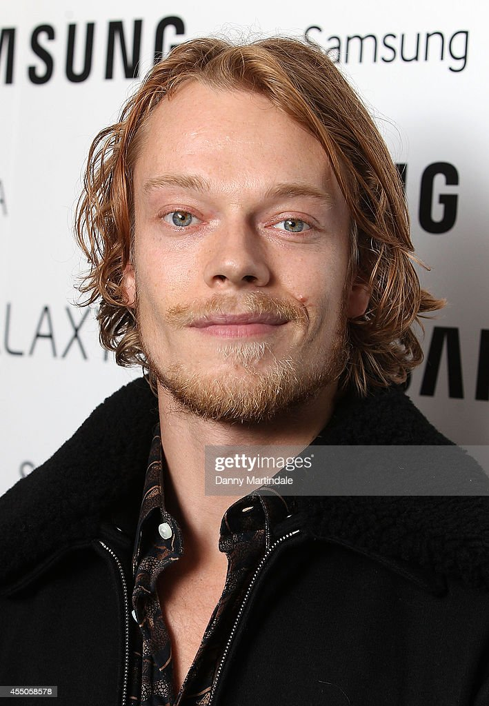Alfie Allen attends the Samsung Galaxy Alpha Launch party at The Collection on September 9, 2014 in London, England.