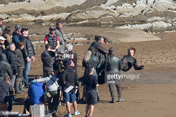 Alfie Allen is seen at Game of Thrones Set Filming on October 29, 2016 in Zumaia, Spain.