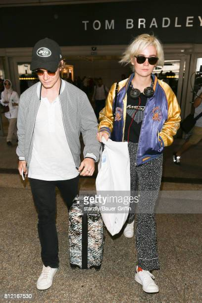Alfie Allen is seen at LAX on July 10 2017 in Los Angeles California
