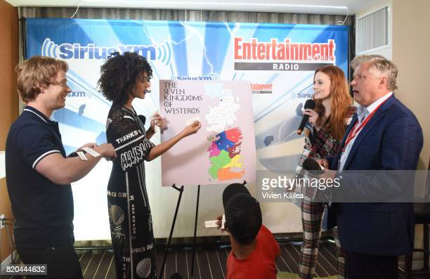 Alfie Allen Nathalie Emmanuel Jacob Anderson Sophie Turner and Conleth Hill attend SiriusXM's Entertainment Weekly Radio Channel Broadcasts From...