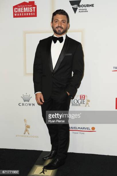 Alfie Arcuri arrives at the 59th Annual Logie Awards at Crown Palladium on April 23 2017 in Melbourne Australia
