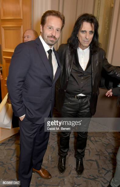 Alfie Boe and Alice Cooper attend the Nordoff Robbins O2 Silver Clef Awards at The Grosvenor House Hotel on June 30 2017 in London England