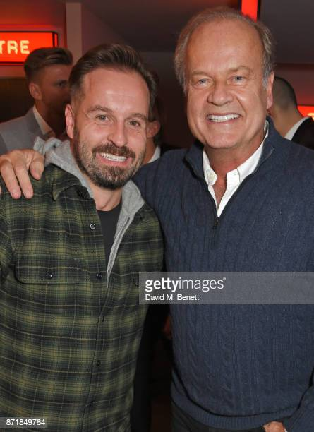 Alfie Boe and cast member Kelsey Grammer attend the press night after party for 'Big Fish The Musical' at The Other Palace on November 8 2017 in...