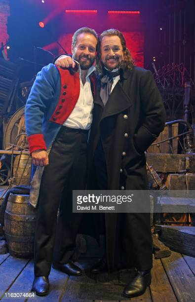 """Alfie Boe and Michael Ball attend the press night performance of """"Les Miserables: The Staged Concert"""" at The Gielgud Theatre on August 21, 2019 in..."""