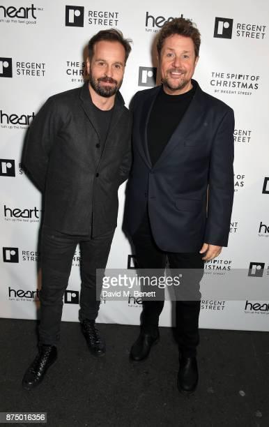 Alfie Boe and Michael Ball attend the Regent Street Christmas Lights switch on event with Heart FM on November 16 2017 in London England