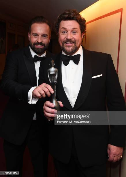 Alfie Boe and Michael Ball backstage at the 2018 Classic BRIT Awards held at Royal Albert Hall on June 13 2018 in London England
