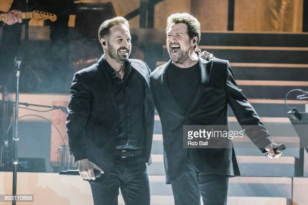 Alfie Boe and Michael Ball perform live on stage at The O2 Arena on December 14 2017 in London England