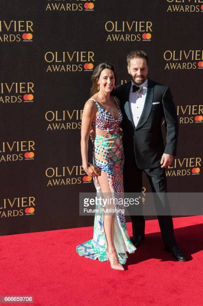 Alfie Boe and Sarah Boe attend the 2017 Olivier Awards with Mastercard ceremony at the Royal Albert Hall on April 09 2017 in London England...