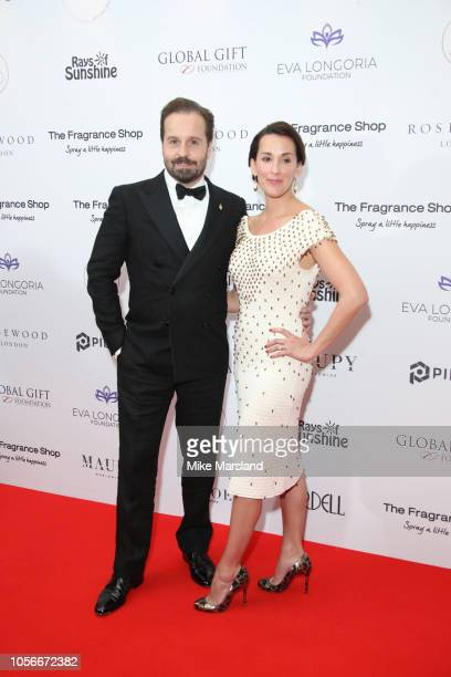 Alfie Boe and Sarah Boe attend The 9th Annual Global Gift Gala held at The Rosewood Hotel on November 2 2018 in London England