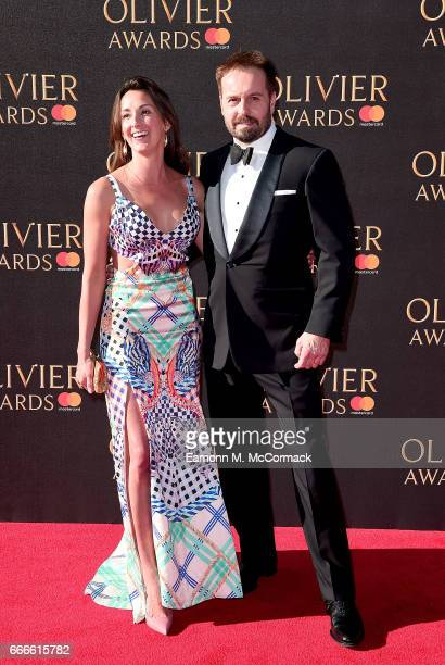 Alfie Boe and Sarah Boe attend The Olivier Awards 2017 at Royal Albert Hall on April 9 2017 in London England