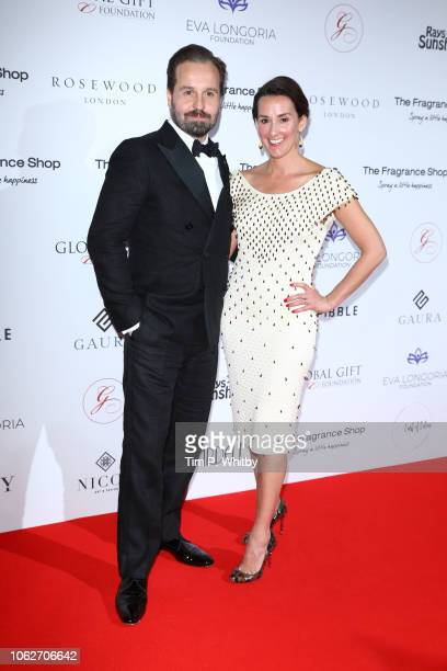 Alfie Boe and Sarah Boe attends The 9th Annual Global Gift Gala held at The Rosewood Hotel on November 02 2018 in London England