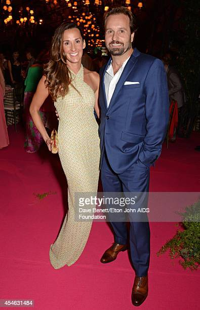 APPLIES Alfie Boe and wife Sarah Boe attend the Woodside End of Summer party to benefit the Elton John AIDS Foundation sponsored by Chopard and Grey...