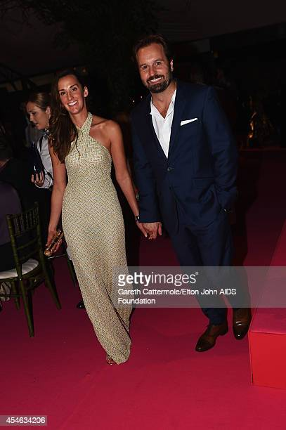 Alfie Boe and wife Sarah Boe attend the Woodside End of Summer party to benefit the Elton John AIDS Foundation sponsored by Chopard and Grey Goose at...