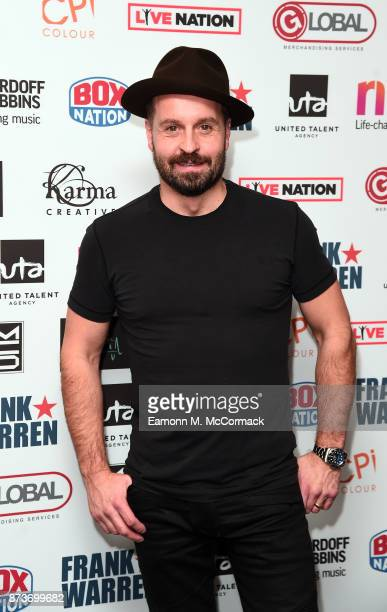 Alfie Boe arriving at The Nordoff Robbins Championship Boxing dinner held at London Hilton on November 13 2017 in London England