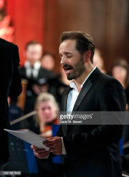 Alfie Boe attends 'Animal Requiem A Concert To Celebrate Honour All Animals' by Rachel Fuller at St James' Church on January 31 2019 in London England