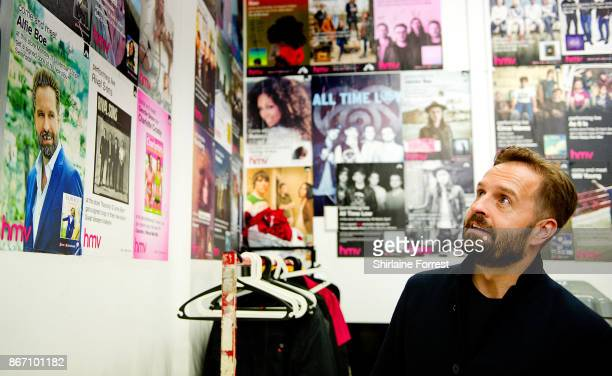 Alfie Boe backstage after signing copies of their new album 'Together Again' at HMV Manchester on October 27 2017 in Manchester EnglandTo celebrate...
