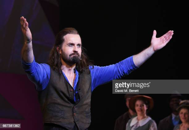 Alfie Boe bows at the curtain call during the press night performance of the English National Opera's production of Rodgers Hammerstein's 'Carousel'...