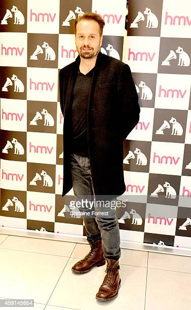 Alfie Boe meets fans and signs copies of his new album 'Serenata' at HMV on November 17 2014 in Manchester England
