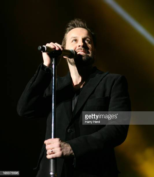 Alfie Boe performs at BIC on April 3 2013 in Bournemouth England