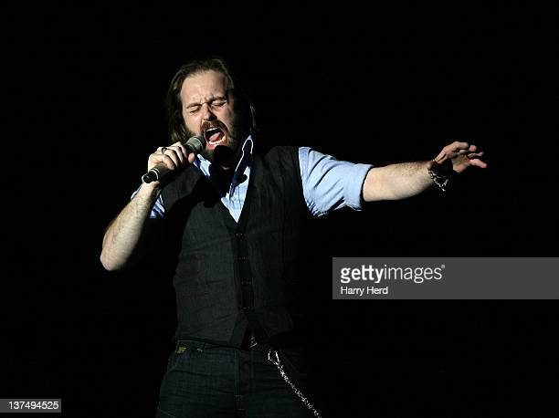Alfie Boe performs at Bournemouth International Centre on January 21 2012 in Bournemouth England