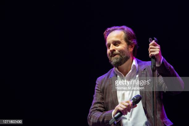 Alfie Boe performs at Virgin Money Unity Arena on September 10, 2020 in Newcastle upon Tyne, England.