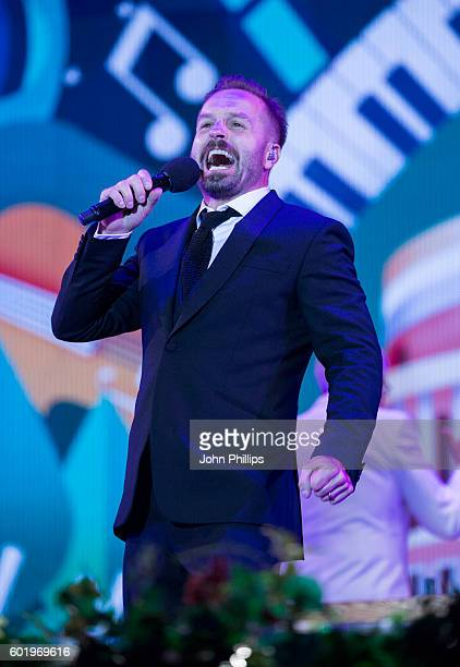 Alfie Boe performs during the BBC Proms In The Park at Hyde Park on September 10 2016 in London England