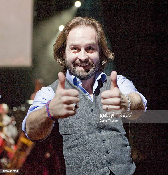 Alfie Boe performs on stage at Symphony Hall on December 13 2011 in Birmingham United Kingdom