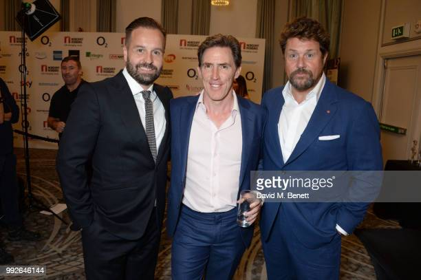 Alfie Boe Rob Brydon and Michael Ball attend the Nordoff Robbins O2 Silver Clef Awards at The Grosvenor House Hotel on July 6 2018 in London England