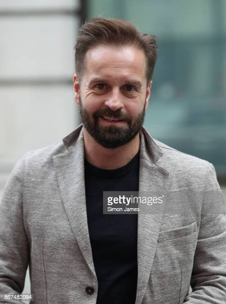 Alfie Boe seen at the BBC on October 28 2017 in London England