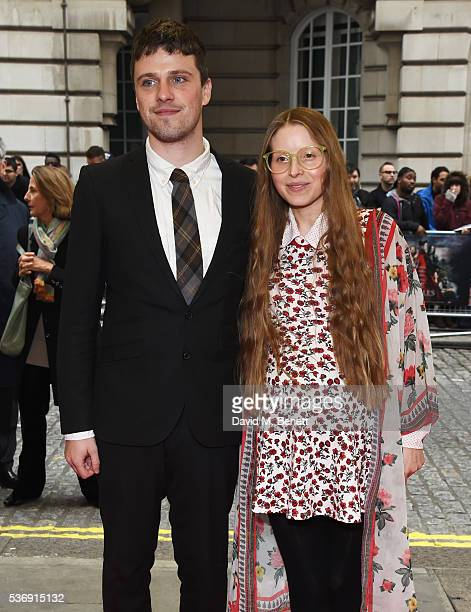 Alfie Brown and Jessie Cave attends the UK Premiere of Tale Of Tales at The Curzon Mayfair on June 1 2016 in London England