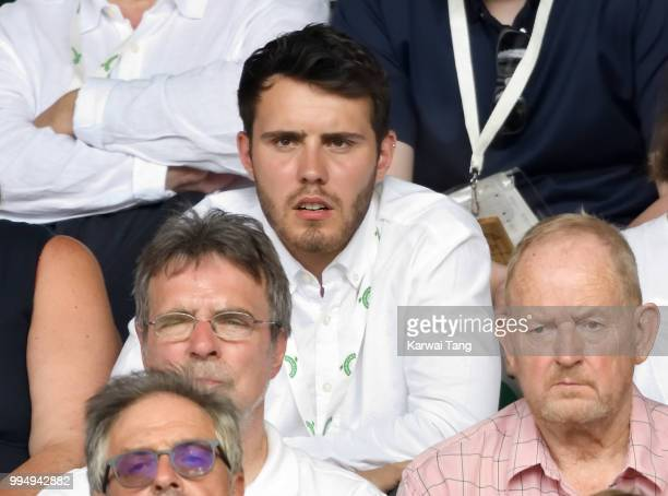 Alfie Deyes attends day seven of the Wimbledon Tennis Championships at the All England Lawn Tennis and Croquet Club on July 9 2018 in London England