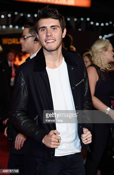 Alfie Deyes attends the World Premiere of The Hunger Games Mockingjay Part 1 at Odeon Leicester Square on November 10 2014 in London England