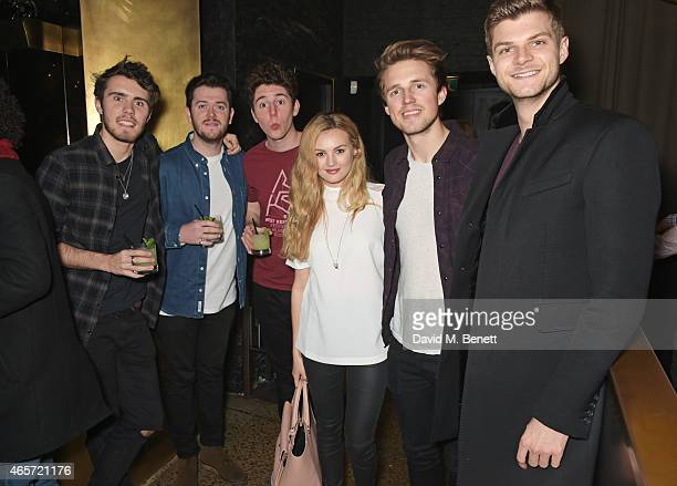 Alfie Deyes guests Niomi Smart Marcus Butler and Jim Chapman attend a party hosted by Instagram's Kevin Systrom and Jamie Oliver This is their second...