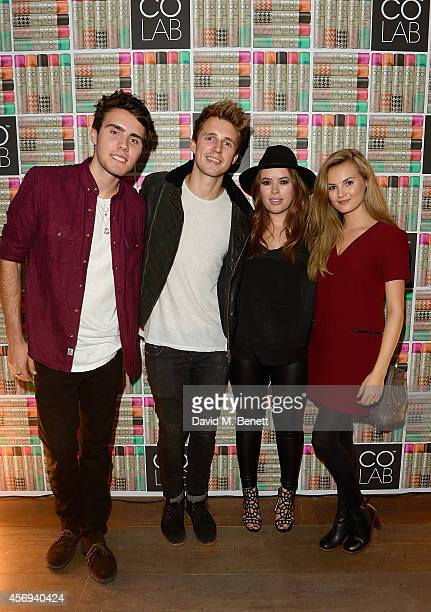 Alfie Deyes Marcus Butler Tanya Burr and Niomi Smart attend as Ruth Crilly unveils a new haircare sensation Colab on October 9 2014 in London England