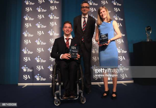 Alfie Hewett and Sophie Hahn receive The Bill McGowran Trophy for achievements in para sport from Tim Hollingsworth Chief Executive British...