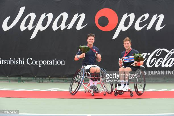 Alfie Hewitt and Gordon Reid of Great Britain celebrate winning the Men's Doubles Final against Gustavo Fernandez of Argentina and Shingo Kunieda of...