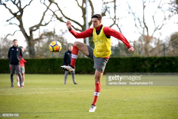 Alfie Jones during a Southampton FC training session at Staplewood Training Centre on March 8 2018 in Southampton England