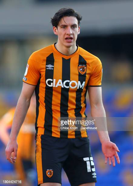 Alfie Jones of Hull City during the Sky Bet League One match between AFC Wimbledon and Hull City at Plough Lane on February 27, 2021 in Wimbledon,...