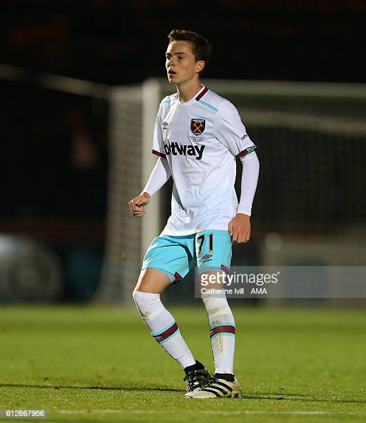 Alfie Lewis of West Ham during the Checkatrade trophy match between Wycombe Wanderers and West Ham United at Adams Park on October 4 2016 in High...