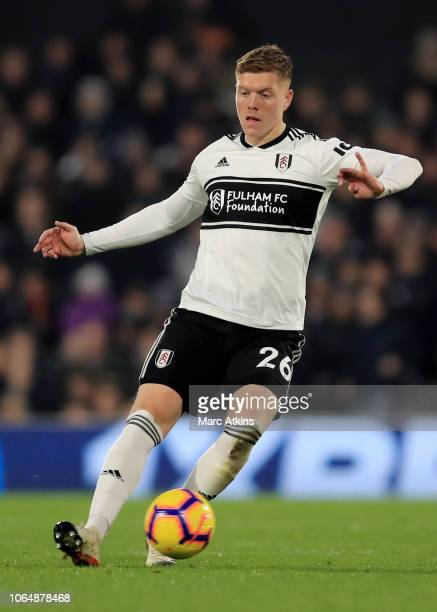 Alfie Mawson of Fulham during the Premier League match between Fulham FC and Southampton FC at Craven Cottage on November 24 2018 in London United...