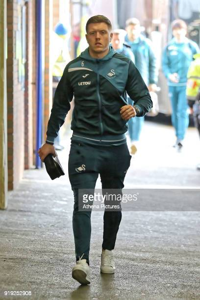 Alfie Mawson of Swansea City arrives prior to the game during The Emirates FA Cup Fifth Round match between Sheffield Wednesday and Swansea City at...