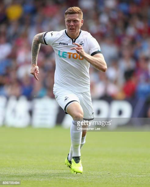 Alfie Mawson of Swansea City in action during the Premier League match between Crystal Palace and Swansea City at Selhurst Park on August 26 2017 in...