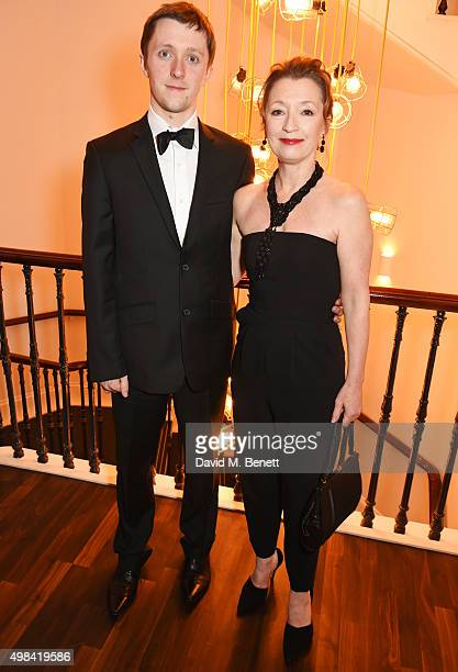 Alfie Oldman and Lesley Manville attend a champagne reception ahead of The London Evening Standard Theatre Awards in partnership with The Ivy at The...