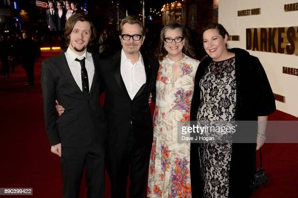 Alfie Oldman Gary Oldman Gisele Schmidt and guest attend the 'Darkest Hour' UK premiere at Odeon Leicester Square on December 11 2017 in London...