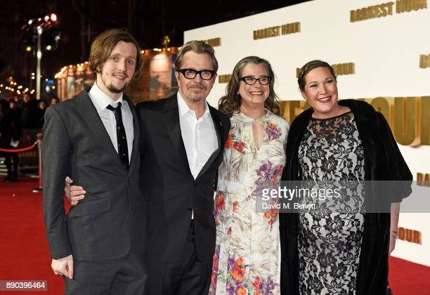 Alfie Oldman Gary Oldman Gisele Schmidt and guest attend the UK Premiere of 'Darkest Hour' at Odeon Leicester Square on December 11 2017 in London...