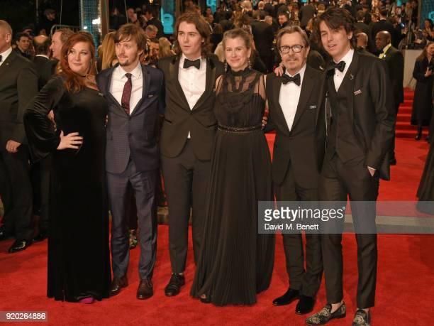 Alfie Oldman Gulliver Oldman Gisele Schmidt Gary Oldman and Charlie Oldman attend the EE British Academy Film Awards held at Royal Albert Hall on...